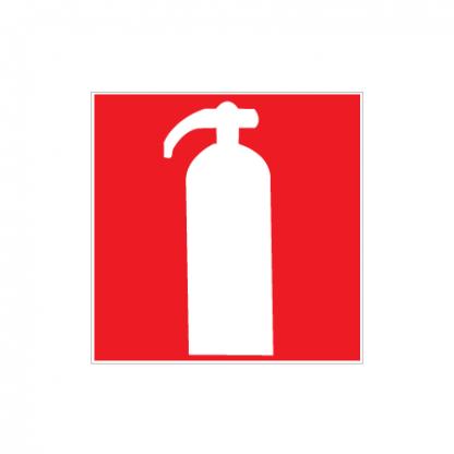 Brandsläckare skylt plast dubbelsidig