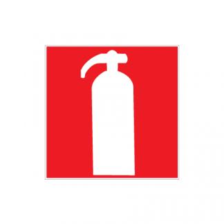 Brandsläckare skylt