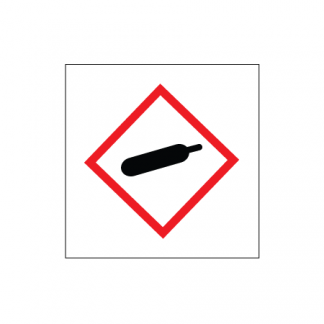 Gasbehållare skylt plast utan text
